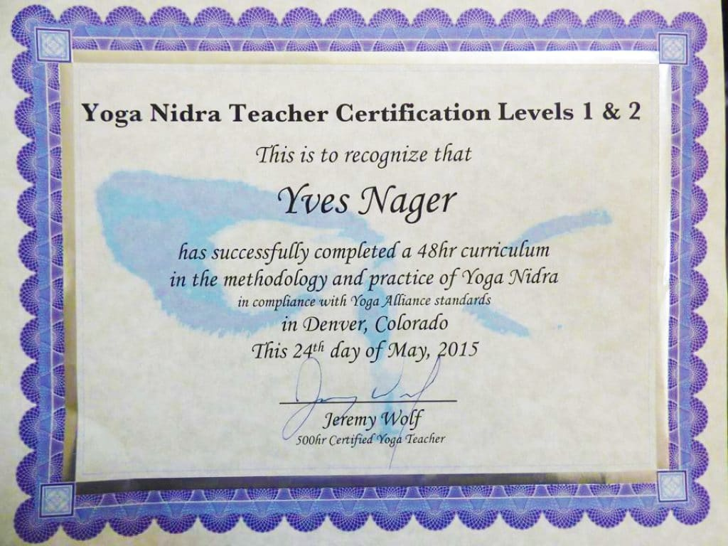 Yoga Nidra healing therapy sessions offered by Yves Nager. Powerful and ancient conscious relaxation practice. Yoga stands for union and Nidra stands for sleep.